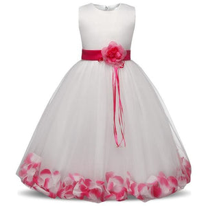Flower Christmas Girl Dress Wedding Princess Tutu Party Events Dresses For Teenage Girl Dress As Photo 7 / 4T
