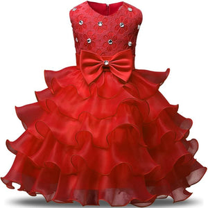 Flower Girl Dresses For Wedding Party Princess Dress For Girls Formal Gown Kid Clothes School