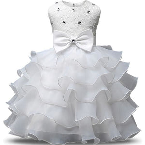 Flower Girl Dresses For Wedding Party Princess Dress For Girls Formal Gown Kid Clothes School C47B / 3T