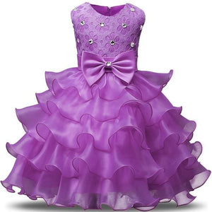 Flower Girl Dresses For Wedding Party Princess Dress For Girls Formal Gown Kid Clothes School C47Qz / 3T