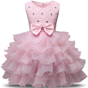 Flower Girl Dresses For Wedding Party Princess Dress For Girls Formal Gown Kid Clothes School C47F / 3T