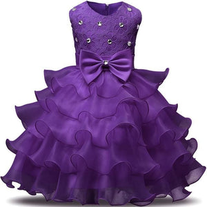 Flower Girl Dresses For Wedding Party Princess Dress For Girls Formal Gown Kid Clothes School C47Sz / 3T