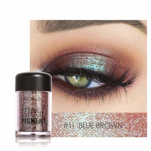 FOCALLURE 18 Colors Glitter Eyeshadow Powder Waterproof Loose Shimmer Eyeshadow Pigment Powder 3D - MBMCITY