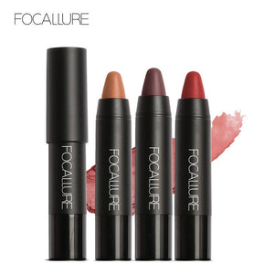 FOCALLURE 19 Colors Lipstick Matte Lipsticker Waterproof Long-lasting Easy to Wear Cosmetic Nude