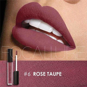 FOCALLURE Beauty Waterproof Batom Matte Liquid Lipstick Smooth Lip Stick Long Lasting Lip Gloss 10