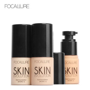 FOCALLURE Face Makeup Base Face Liquid Foundation BB Cream Concealer Foundation Primer Easy to Wear