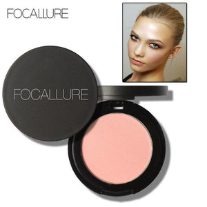 FOCALLURE Makeup Face Blush Powder Dual Use Face Color Blush Powder Cheek Color Brozer Comestics