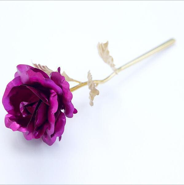 Foil Plated Rose Gold Rose Wedding Decoration Flower Valentine's Day Gift lover's Rose artificial