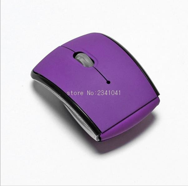 Foldable 2.4GHz Wireless Mouse mouse for the PC computer mouse Foldable Folding Mouse/Mice + USB 2.0 Purple