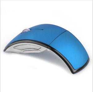 Foldable 2.4GHz Wireless Mouse mouse for the PC computer mouse Foldable Folding Mouse/Mice + USB 2.0 Blue