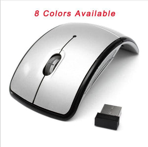 Foldable 2.4GHz Wireless Mouse mouse for the PC computer mouse Foldable Folding Mouse/Mice + USB 2.0 silvery