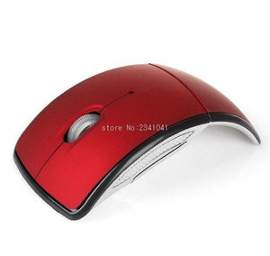 Foldable 2.4GHz Wireless Mouse mouse for the PC computer mouse Foldable Folding Mouse/Mice + USB 2.0 Red