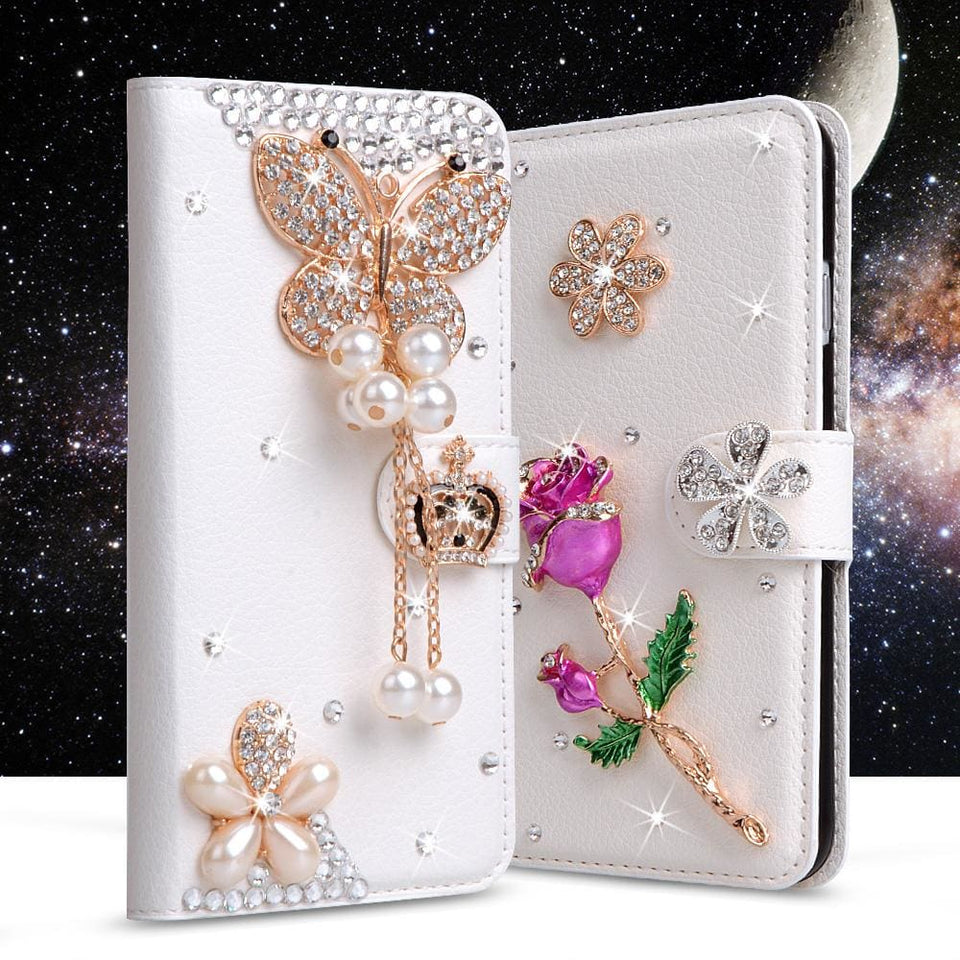 For Xiaomi Mi Max Case Luxury 3D Rhinestone Hand-Made Cover For Xiaomi Mi Max Leather Phone Cases