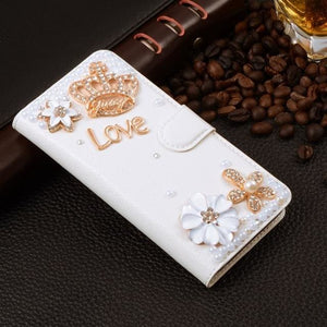 For Xiaomi Mi Max Case Luxury 3D Rhinestone Hand-Made Cover For Xiaomi Mi Max Leather Phone Cases B2