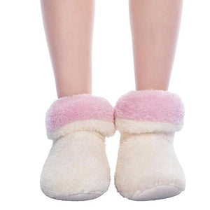 FRALOSHA Dropshipping & Wholesale Women Plush Home shoe Coral Fleece Indoor Floor Sock Winter Foot