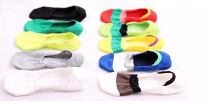 Free shipping 5 pairs 2017 Sock slippers men no show thin invisible striped cotton anti-odor - MBMCITY