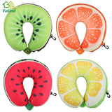 Fruit U Shaped Pillow Cushion Nanoparticles Neck Protection Pillow Car Travel Massage Pillow 3D