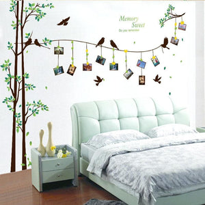 [Fundecor] 205*290Cm/81*114In Large Photo Tree Wall Stickers Home Decor Living Room Bedroom 3D Wall