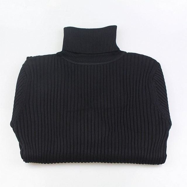 Gigogou Thick Turtleneck Warm Women Sweater Autumn Winter Knitted Femme Pull High Elasticity Soft Black / One Size