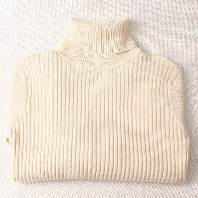 Gigogou Thick Turtleneck Warm Women Sweater Autumn Winter Knitted Femme Pull High Elasticity Soft Apricot / One Size