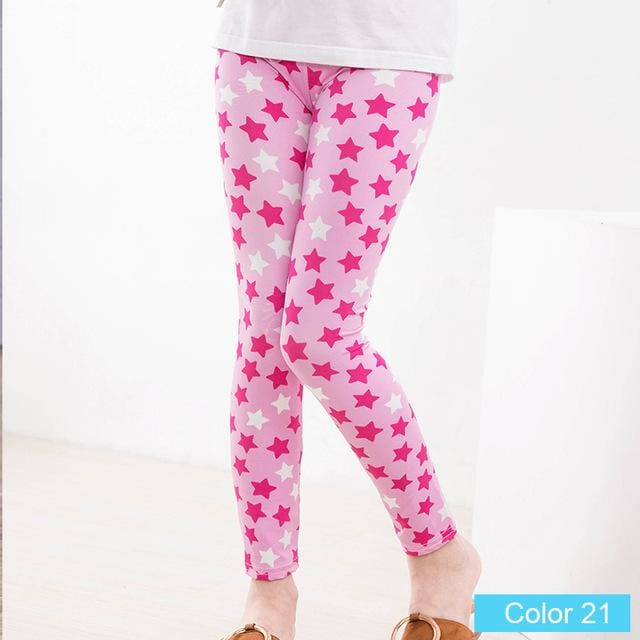 c7ede8d5b4f9f ... girl pants new arrive printing Flower girls leggings Toddler Classic  Leggings 2-14Ybaby girls ...