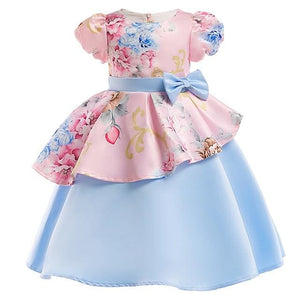 Girls Dress Summer Girl Floral Princess Party Dresses Children Clothing Wedding Tutu Baby Girl As Picture 4 / 3T