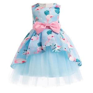 Girls Dress Summer Girl Floral Princess Party Dresses Children Clothing Wedding Tutu Baby Girl As Picture 1 / 2T