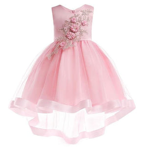 Girls Dress Summer Girl Floral Princess Party Dresses Children Clothing Wedding Tutu Baby Girl As Picture 16 / 2T