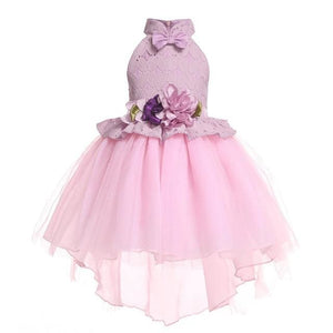 Girls Dress Summer Girl Floral Princess Party Dresses Children Clothing Wedding Tutu Baby Girl As Picture 18 / 2T