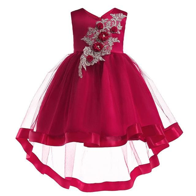 Girls Dress Summer Girl Floral Princess Party Dresses Children Clothing Wedding Tutu Baby Girl