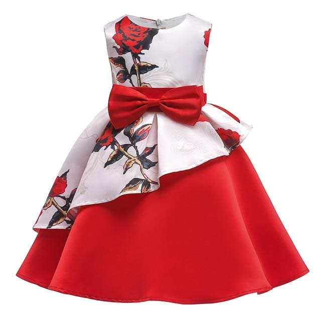 Girls Dress Summer Girl Floral Princess Party Dresses Children Clothing Wedding Tutu Baby Girl As Picture 5 / 2T