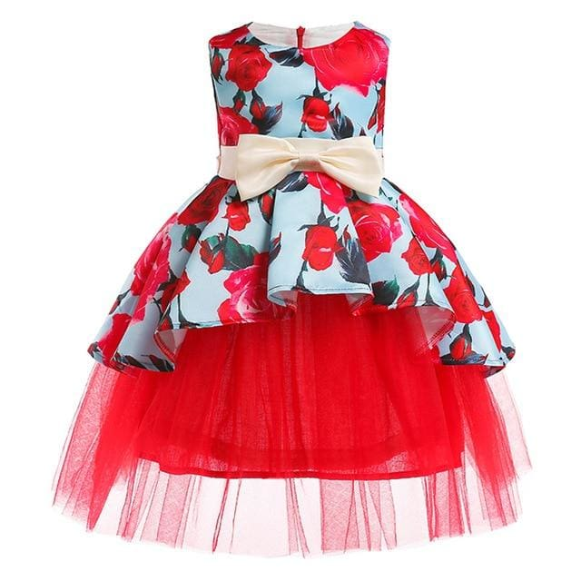 Girls Dress Summer Girl Floral Princess Party Dresses Children Clothing Wedding Tutu Baby Girl As Picture 15 / 2T