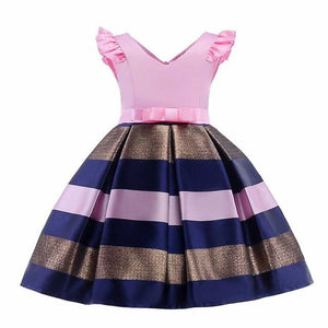 Girls Dress Summer Girl Floral Princess Party Dresses Children Clothing Wedding Tutu Baby Girl As Picture 3 / 2T