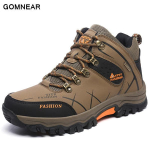 GOMNEAR New Trend Autumn And Big Size Winter HIking shoes Breathable Outdoor Waterproof Hunting