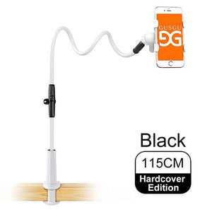 GUSGU Universal Stents Flexible Holder Lazy Mobile Phone Stand Long Arm Bed/Desktop Clip Bracket.