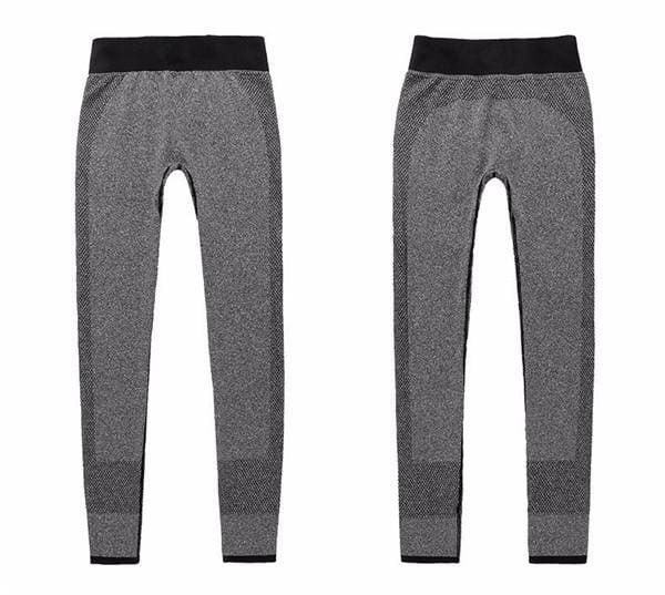 Gym Women Yoga Clothing Sports Pants Legging Tights Workout Sport Fitness Exercise And Clothes Grey / L