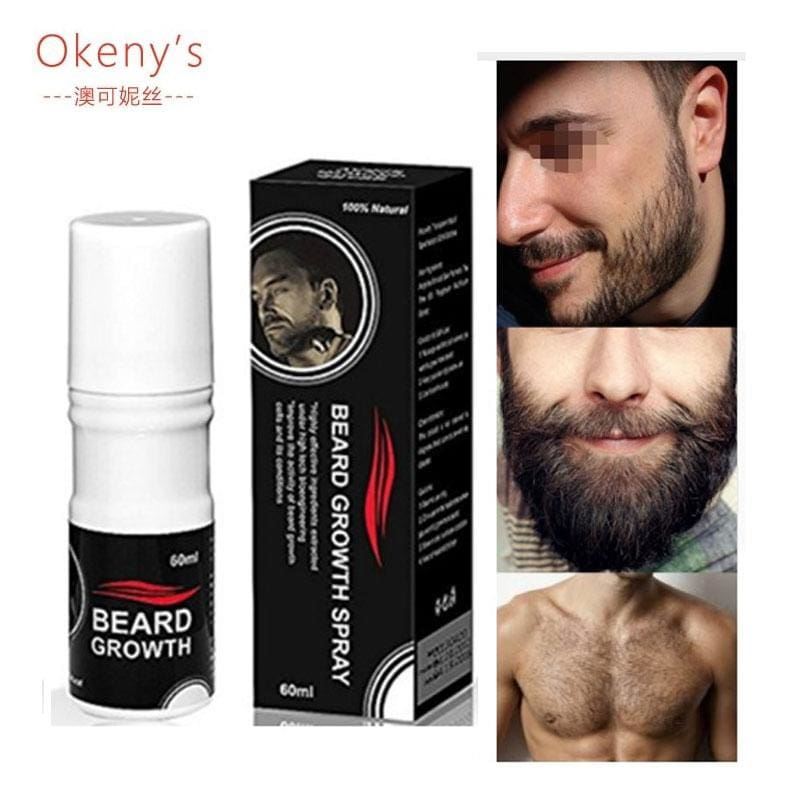 Hair Loss Original Beard Growth Spray 60Ml Beard Grow Stimulator 100% Natural Accelerate Beard