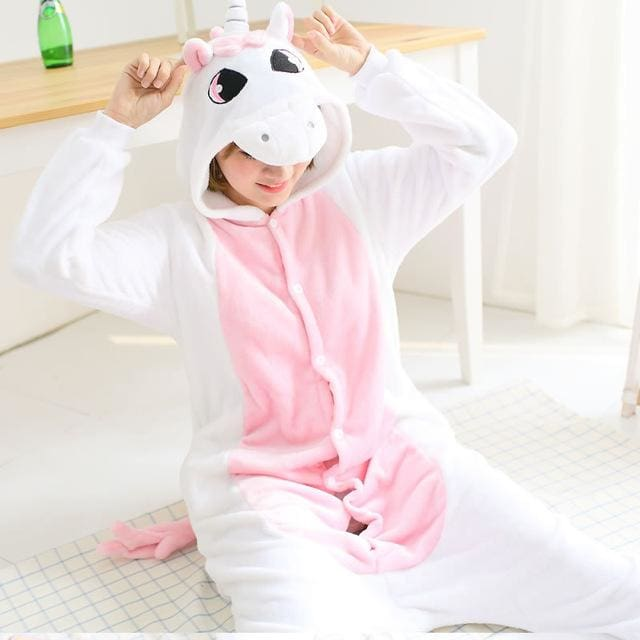 Halloween Women Unicorn Pajamas Sets Women Flannel Animal Pajamas Kits For Kingurumi Sleepwear Picture Color 7 / S