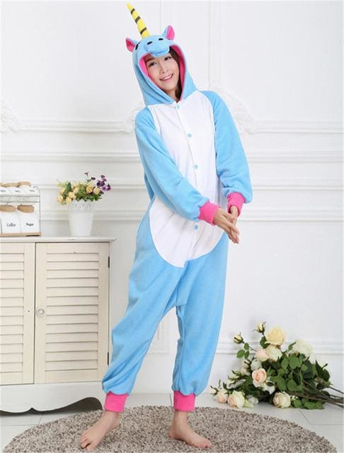 Halloween Women Unicorn Pajamas Sets Women Flannel Animal Pajamas Kits For Kingurumi Sleepwear Picture Color 4 / S