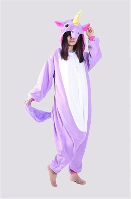 Halloween Women Unicorn Pajamas Sets Women Flannel Animal Pajamas Kits For Kingurumi Sleepwear Picture Color 1 / S