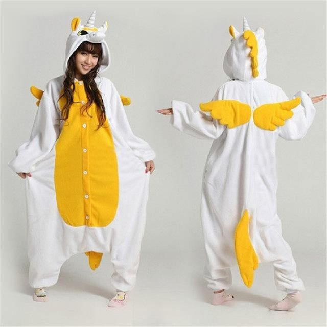 Halloween Women Unicorn Pajamas Sets Women Flannel Animal Pajamas Kits For Kingurumi Sleepwear Picture Color / S