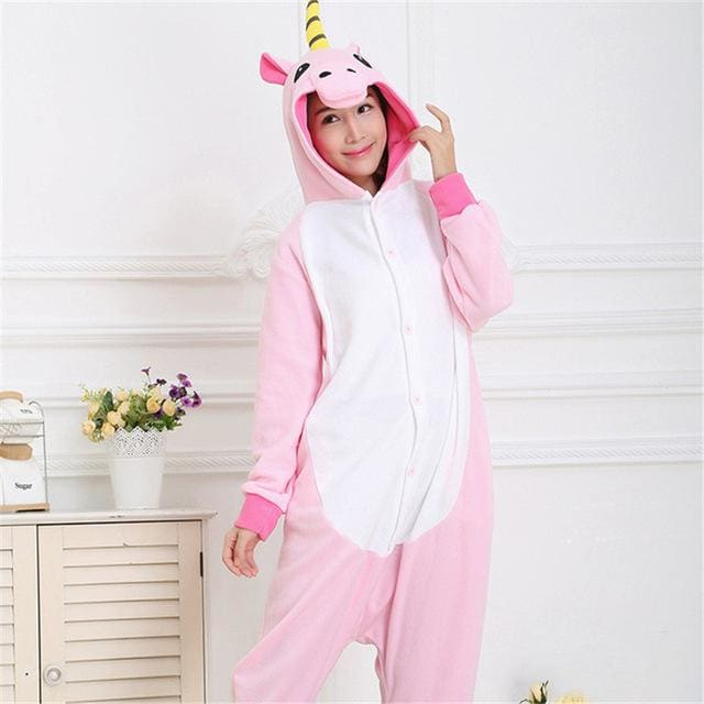 Halloween Women Unicorn Pajamas Sets Women Flannel Animal Pajamas Kits For Kingurumi Sleepwear Picture Color 5 / S