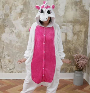 Halloween Women Unicorn Pajamas Sets Women Flannel Animal Pajamas Kits For Kingurumi Sleepwear Picture Color 3 / S