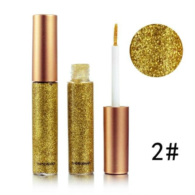 Handaiyan Shine Glitter Eye Shadow & Liner Liquid Long-Lasting Shimmery Eye Makeup Quickly Dry Shiny 2