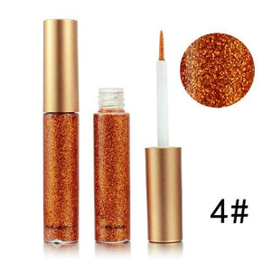 Handaiyan Shine Glitter Eye Shadow & Liner Liquid Long-Lasting Shimmery Eye Makeup Quickly Dry Shiny 4