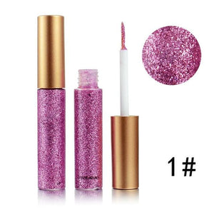 Handaiyan Shine Glitter Eye Shadow & Liner Liquid Long-Lasting Shimmery Eye Makeup Quickly Dry Shiny 1