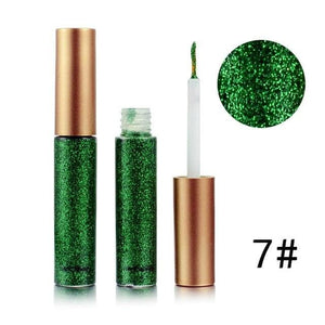 Handaiyan Shine Glitter Eye Shadow & Liner Liquid Long-Lasting Shimmery Eye Makeup Quickly Dry Shiny 7