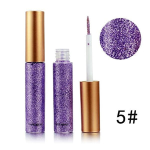 Handaiyan Shine Glitter Eye Shadow & Liner Liquid Long-Lasting Shimmery Eye Makeup Quickly Dry Shiny 5