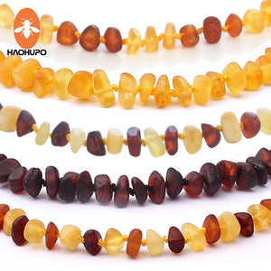 Haohupo 16 Colors Amber Teething Bracelet/necklace For Baby Adult Lab Tested Authentic 8 Sizes