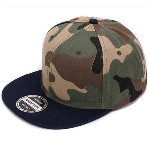 HATLANDER Camouflage snapback polyester cap blank flat camo baseball cap with no embroidery mens cap Navy camo